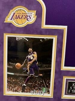 Kobe Bryant Vintage 2001 Full Name Autographed Framed Lakers Jersey PSA/DNA COA