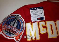 LANNY McDONALD SIGNED CCM CALGARY FLAMES 1989 STANLEY CUP JERSEY PSA/DNA COA