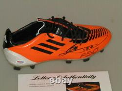 LEO MESSI Hand Signed Soccer Cleat Boot + PSA DNA COA BUY 100% GENUINE MESSI