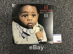 LIL Wayne Weezy Carter 3 Signed Autograph Lp Vinyl Album Framed Psa Dna Coa