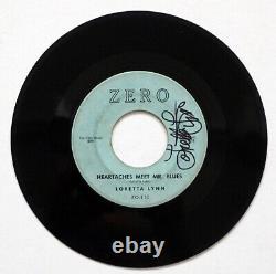 LORETTA LYNN Original SIGNED AUTOGRAPH 1960's ZERO Label Record with PSA/DNA COA