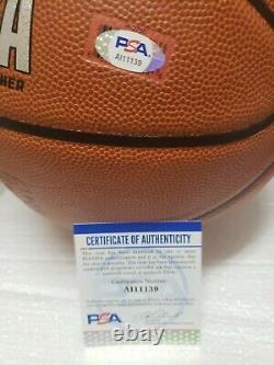 LUKA DONCIC Dallas Mavericks Autographed Spalding Basketball with PSA/DNA coa