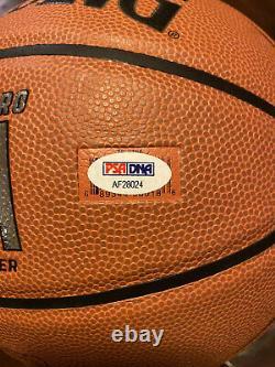 LUKA DONCIC SIGNED NBA REPLICA BASKETBALL DALLAS MAVERICKS PSA/DNA COA MVP Dirk