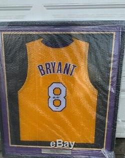 Lakers Kobe Bryant Autographed Signed Framed Yellow Jersey PSA/DNA B11902 #8 COA