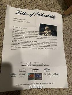 Larry Bird Magic Johnson Signed Framed Photo Autograph Auto PSA/DNA COA