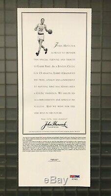 Larry Bird Signed 1993 Ticket Autographed AUTO PSA/DNA COA Boston Celtics HOF