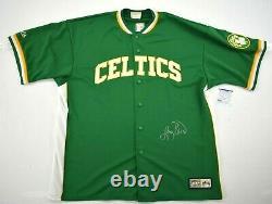 Larry Bird Signed Celtics Warm-Up Jersey Jersey PSA DNA COA Autograph XL
