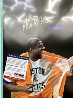 Larry Bird and Magic Johnson Autographed 16x20 Photo PSA/DNA COA