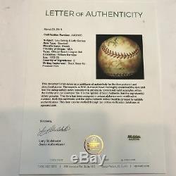 Lou Gehrig Signed 1932 Official American League Baseball PSA DNA & SGC COA