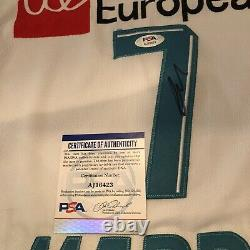 Luka Doncic Signed Europea Jersey Autographed Auto Mavericks + PSA DNA LOA COA