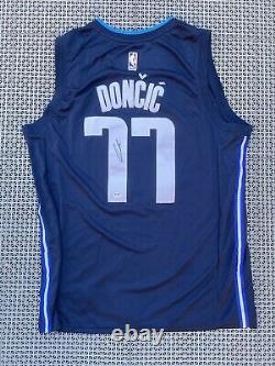 Luka Doncic Signed Jersey PSA/DNA COA Mavericks Statement Nike Autographed