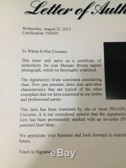 MARIANO RIVERA CUSTOM FRAMED SIGNED 16x20 PHOTO PSA DNA COA & STEINER HOLO