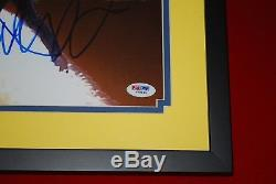 MICHAEL J FOX CHRISTOPHER LLOYD signed Framed PSA/DNA 11x14 BTTF COA