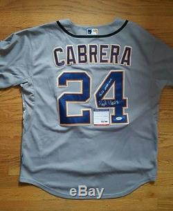 MIGUEL CABRERA signed autographed DETROIT TIGERS Jersey withCOA PSA/DNA AC64204