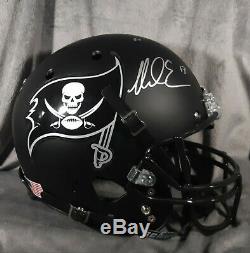 MIKE EVANS signed TAMPA BAY BUCCANEERS full size helmet PSA/DNA ITP coa fs black