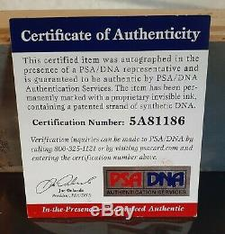 Magic Johnson & Larry Bird Signed Original Forum Floor Auto PSA/DNA COA # 5A8118
