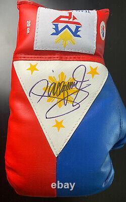 Manny Pacman Pacquiao Signed Boxing Glove Autograph AUTO PSA/DNA Sticker + COA