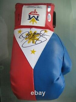 Manny Pacquiao Signed Boxing Glove Philippines Flag Auto with COA PSA DNA