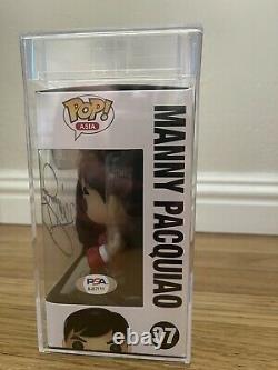 Manny Pacquiao Signed Funko Pop #37 Vaulted PSA DNA COA RARE ENCAP