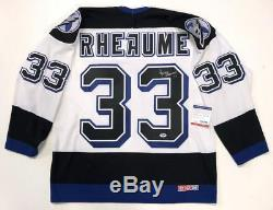 Manon Rheaume Signed Tampa Bay Lightning CCM Jersey Psa/dna Coa Aa52189 Large