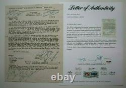 Marilyn Monroe Signed Note To Bob Love & Kisses Dated July 9,1954 Psa/dna Coa