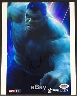 Mark Ruffalo Signed 8x10 Photo Psa Dna Coa Autograph Avengers Infinity War