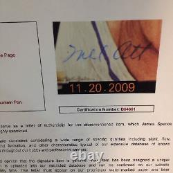 Mel Ott Signed Portrait Photo Mint Auto PSA DNA + JSA COA