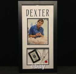 Michael C Hall Dexter Signed Framed 8x10 Photograph With Props PSA DNA COA