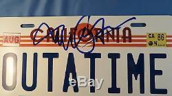 Michael J Fox Signed Back To The Future Replica License Plate Psa Dna Coa