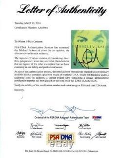 Michael Jackson Autographed Signed CD Authentic PSA/DNA COA