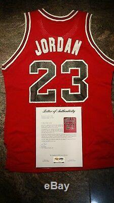 Michael Jordan 23 Autographed with PSA/DNA COA MacGregor Sand Knit Jersey