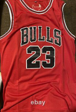 Michael Jordan Signed Autographed Chicago Bulls Red Jersey PSA/DNA COA