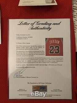 Michael Jordan Signed Autographed Upper Deck UDA Red Rookie Jersey + PSA/DNA COA