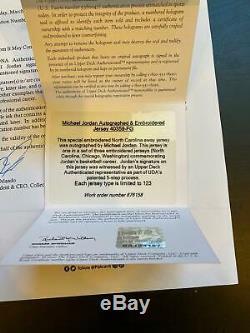 Michael Jordan Signed North Carolina Tar Heels Jersey UDA & PSA DNA COA Mint