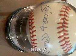 Mickey Mantle Autographed Amer. League Baseball Beckett Graded 9 PSA/DNA- COA