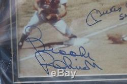 Mickey Mantle & Brooks Robinson Autographs -Matted & Framed COA from PSA/DNA