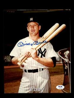 Mickey Mantle PSA DNA Coa Hand Signed 8x10 Photo Autograph