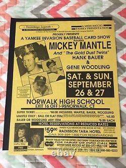 Mickey Mantle Signed Autographed 16x20 Gallo Photo No. 7/ 1956 Psa Dna Coa