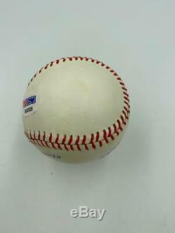 Mickey Mantle Signed Autographed Official American League Baseball PSA DNA COA