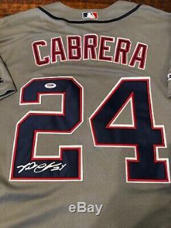Miguel Cabrera Signed Detroit Tigers Jersey PSA DNA Coa Autographed