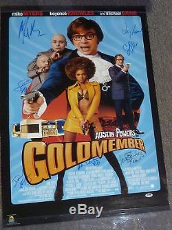 Mike Myers & Seth Green +5 Cast Signed Austin Powers 22x35 Poster PSA/DNA COA
