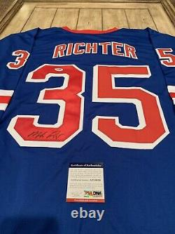 Mike Richter Autographed/Signed Jersey PSA/DNA COA New York Rangers