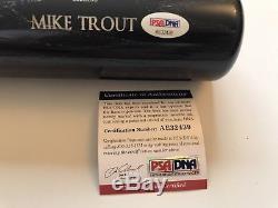 Mike Trout Angels Signed Bat Old Hickory Fullsize Bat Coa Psa/dna