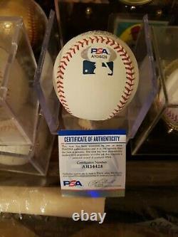 Mike Trout Signed Official Major League Baseball PSA DNA Coa Angels 3X MVP