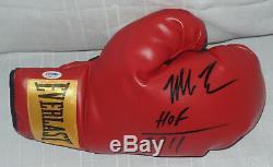 Mike Tyson Signed Auto'd Everlast Boxing Glove Psa/dna Coa Wbc Champ Hof 2011 A