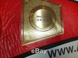 Mike Tyson Signed Full Sized Boxing Championship Belt PSA/DNA COA WBC IBF WBA