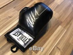 Mike Tyson Signed Glove (Black Everlast) PSA DNA COA