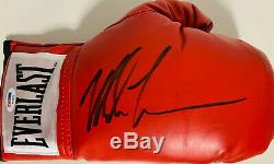 Mike Tyson Signed Red Everlast Boxing Glove Right Auto PSA DNA COA