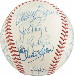 Mint 1948 New York Yankees Team Signed American League Baseball PSA DNA COA