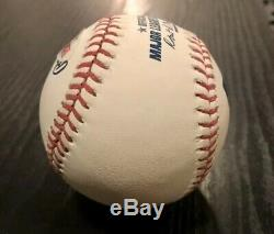 Mookie Betts Signed Baseball Psa/dna Coa Auto Omlb Red Sox Dodgers Mvp